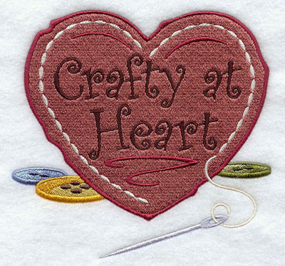 Crafty at heart machine embroidery design.