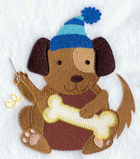 Crafty critters sewing dog machine embroidery design.