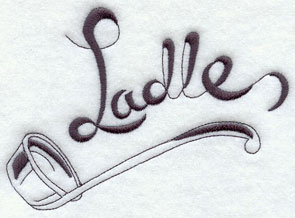 Ladle machine embroidery design.