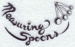 Measuring spoons machine embroidery design.