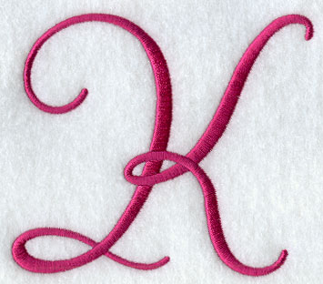 K Letter In Style Machine Embroidery Designs at Embroidery Library! -