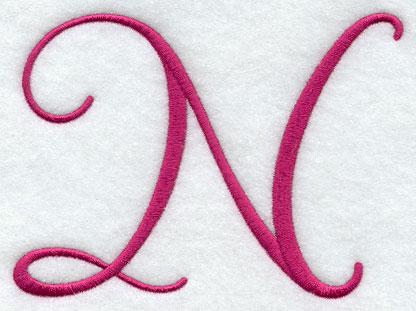 Fancy Flourish Capital Letter N - 4 Inch