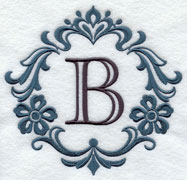 Damask alphabet--great for monogramming!