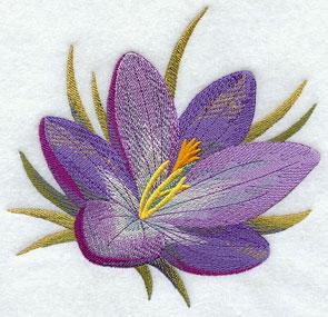 A crocus machine embroidery design.