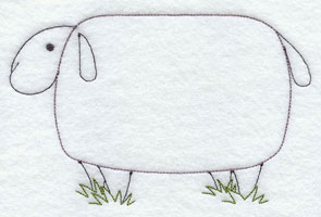 A quick stitching sheep machine embroidery design.