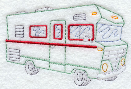 Beautiful Class C RV Embroidery Design