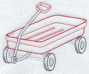 A little red wagon.