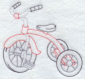 A little red trike.