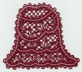 Coordinating Battenburg lace skirt to match Umbrella Girl design.
