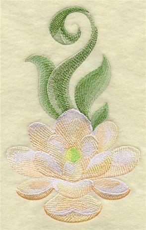 Magnolia blossom machine embroidery design.