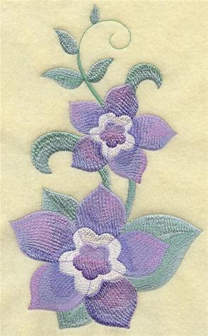 Forget-me-nots machine embroidery design.