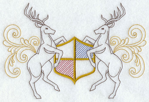 A stag crest machine embroidery design.