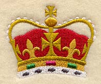A royal crown machine embroidery design.