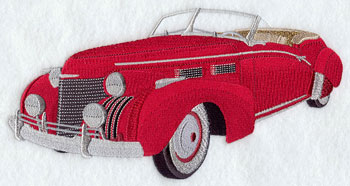 A 1940 Cadillac 62 machine embroidery design.