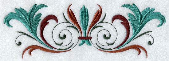 An antique looking machine embroidery design border.