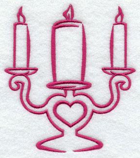 A candelabra machine embroidery design.