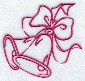 Open and airy ringing bells machine embroidery design.