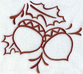 Acorns machine embroidery design.