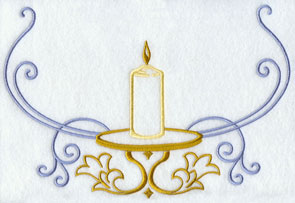 A unity candle machine embroidery design.