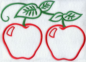 A pair of light and airy apples; perfect for monogramming.