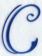 Machine embroidery design Formal Affair alphabet.