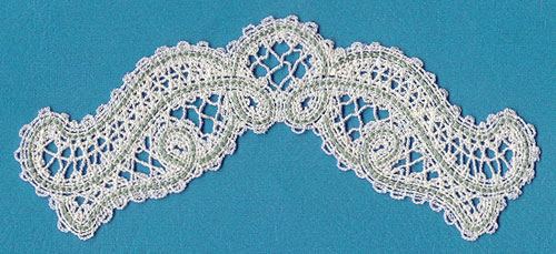 A Battenburg lace floral spray machine embroidery design.