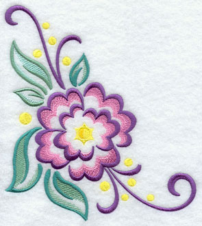 A flower machine embroidery design.
