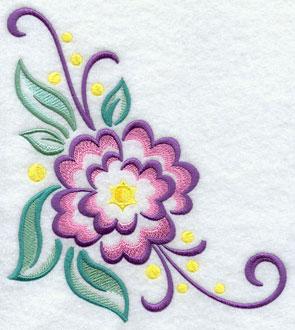 A flower machine embroidery design.