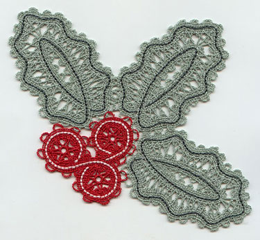 Battenburg lace holly.