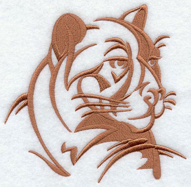 A cougar silhouette machine embroidery design.