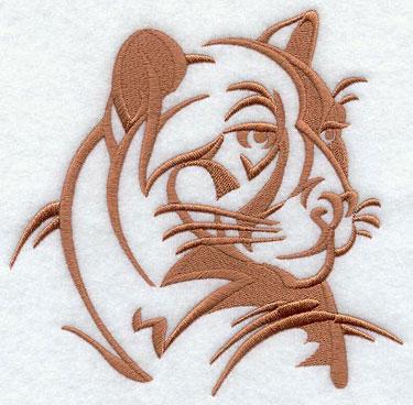 A cougar silhouette machine embroidery design.