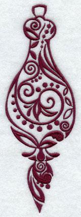 A contemporary light-stitching Christmas ornament.