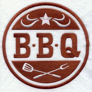 A BBQ crest design.