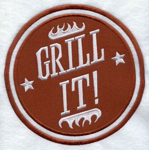 A Grill It stamp design.