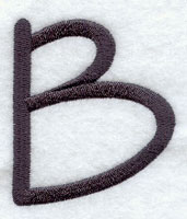Machine embroidery sleek and modern alphabet.