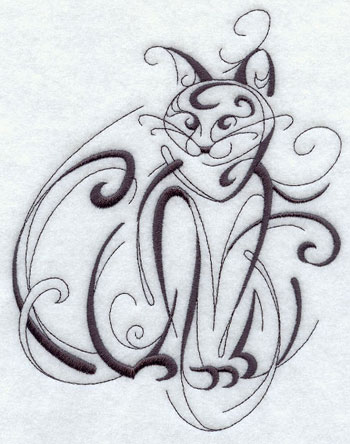 Intricate Ink cat design.