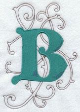 Machine embroidery wild side alphabet.