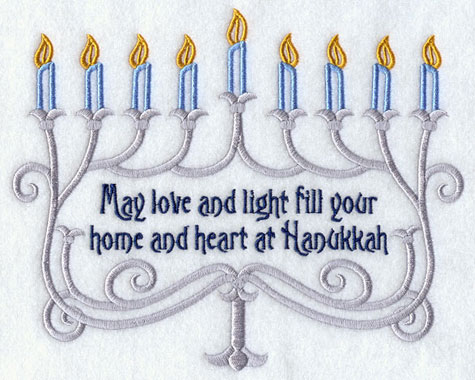 Machine embroidery designs at embroidery library embroidery library this design is similar to the one above with the phrase may love and light fill your home and heart at hanukkah m4hsunfo