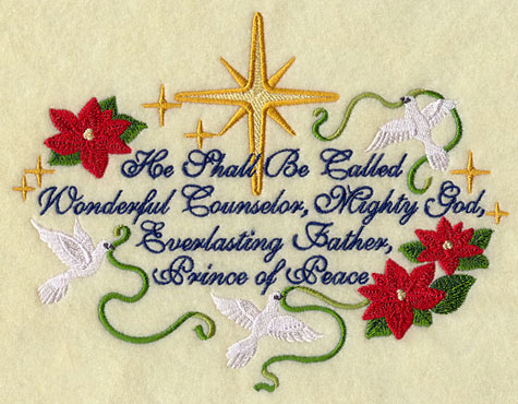 Wonderful Counselor Machine Embroidery Design