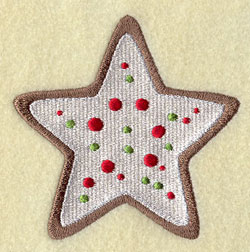 A holiday star sugar cookie machine embroidery design.
