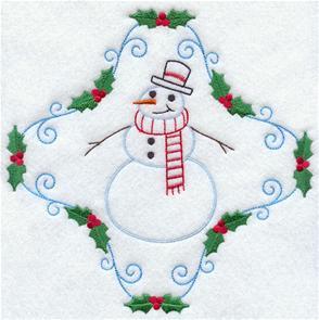 A quick stitching vintage snowman.