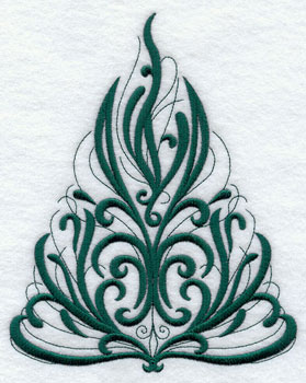 A fancy flourish Christmas tree.
