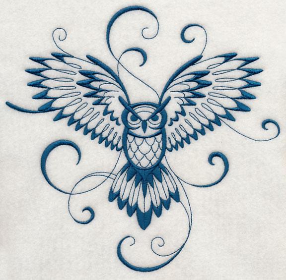 Pretty flying owl tattoo - photo#27
