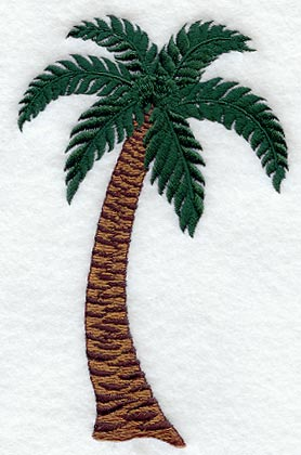 Machine embroidery designs at embroidery library palm tree