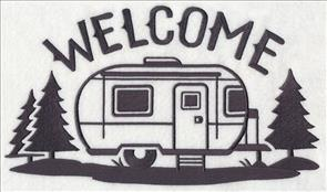 A Canned Ham Pop Up And Airstream Version Of The Quick Stitching Silhouettes Will Make Anyone Happy Camper Stitch On Wall Hangings Pillows
