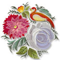 Khokhloma machine embroidery designs.