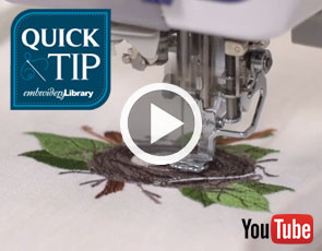 Embroidery Library Quick Tip Video