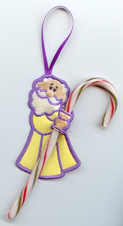 Standing Shepherd Candy Cane Holder (In-the-Hoop)