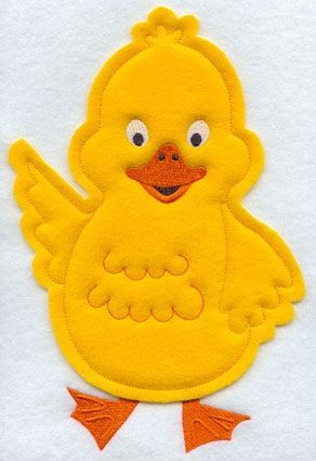 Crafty cut applique duck front.