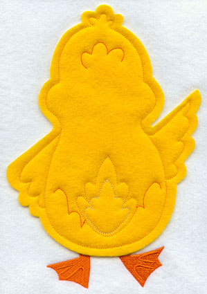 Crafty cut applique duck back.